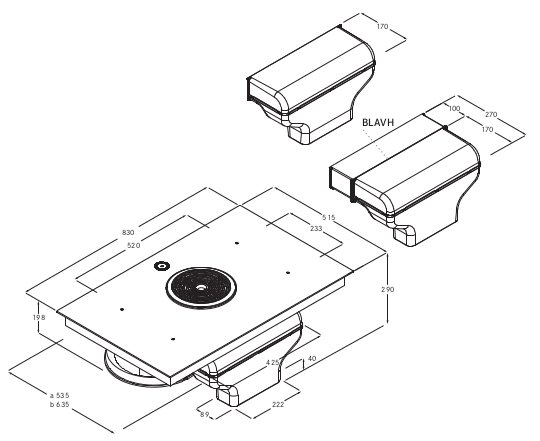 p yta zintegrowana z okapem bora basic bfia globalo max. Black Bedroom Furniture Sets. Home Design Ideas