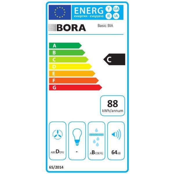 Okap blatowy GLOBALO Bora Basic BIA etykieta