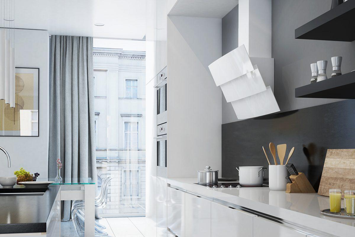 Okap kuchenny GLOBALO Vintio white