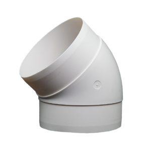 Kolanko okrągłe DOMUS 45° fi 12,5 cm