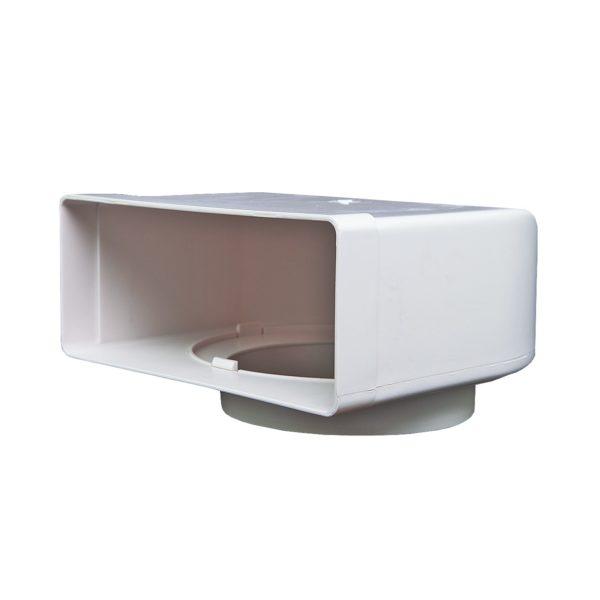 Kolanko płaskie poziome łącznikowe Domus 204×60