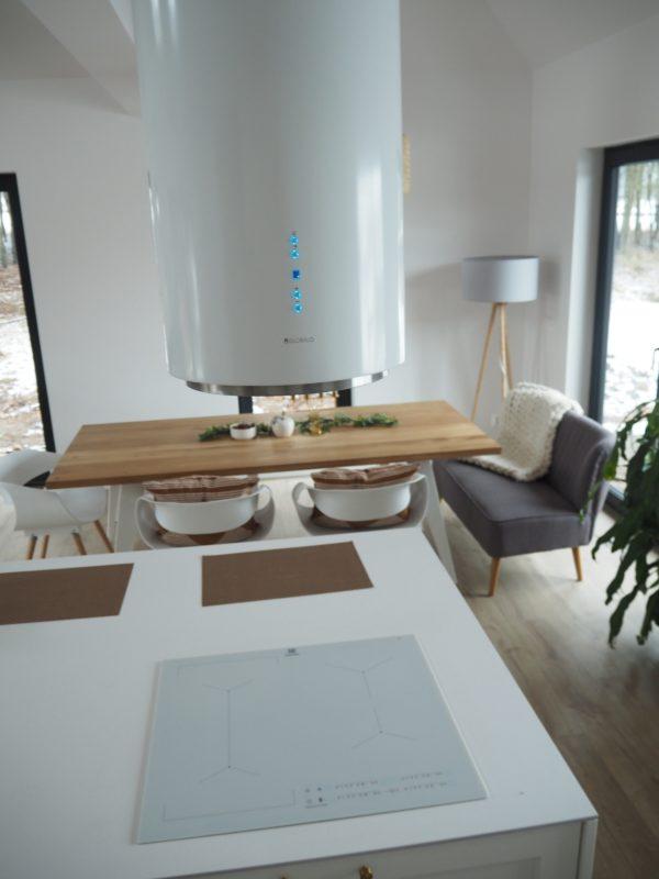 Okap kuchenny GLOBALO Cylindro Isola 39.3 White