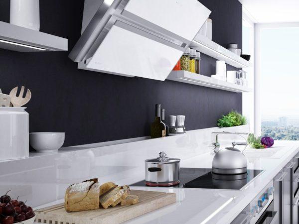 Okap kuchenny przyścienny skośny Globalo boliro 75 white