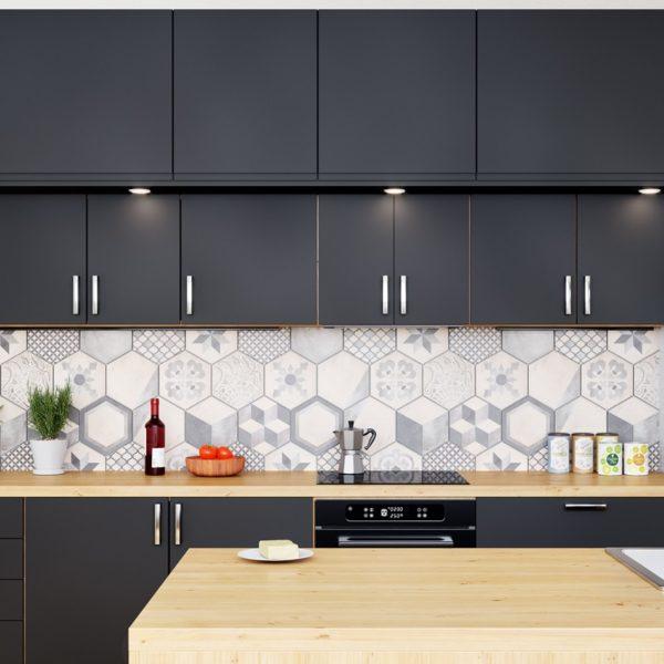 Okap kuchenny GLOBALO Aretemo 60.1 Black wizualizacja