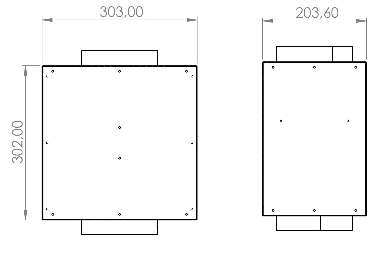 Rysunek techniczny Tłumik Absorpcyjny TA 1.1
